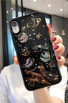 Amazing Glitter Star Moon Pattern Epoxy iPhone 11 Pro Max Case