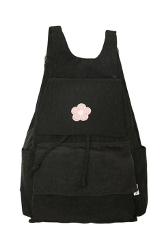 Korean Style Flower Embroidered Backpack for Students