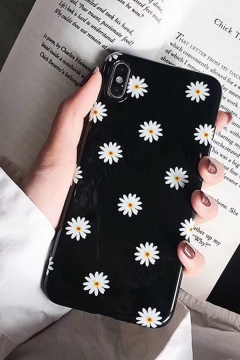 Cool Trendy Allover Floral Printed iPhone 11 Phone Case in Black