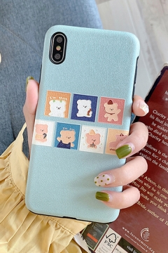 Popular Cartoon Dog Cat Patterned iPhone 11 / X Phone Case
