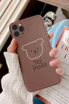 Popular Letter TOY POODLE Bear Graphic iPhone 11 Pro Case in Coffee