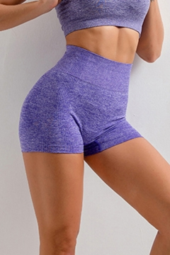 Trendy Womens Solid Color Quick Drying Cutout High Waist Hip Lift Skinny Fitness Running Yoga Shorts