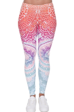 Trendy Women's Leggings All over Paisley Print Elasticity Mid Rise Ankle Length Skinny Leggings