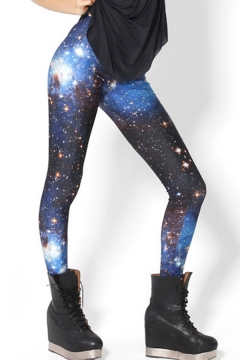 Unique Women's Leggings Space Galaxy Plaid Piano Pattern High Rise Full Length Skinny Leggings