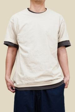 Casual Mens T Shirt Plain Short Sleeve Crew Neck Relaxed Fitted Tee Top