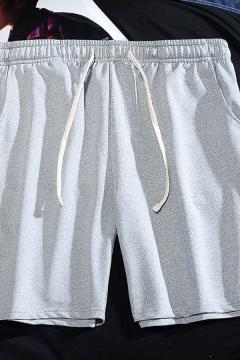 Casual Mens Shorts Plain Drawstring Waist Relaxed Straight Shorts
