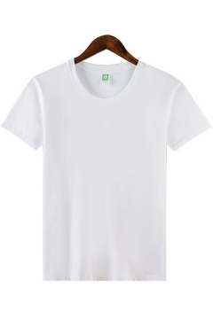 Casual T-Shirt Solid Colored Short Sleeve Crew Neck Loose Fit T-Shirt for Men