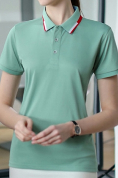 Fashion Polo Shirt Color block Color Short-Sleeved Collared Regular Fitted Polo Shirt