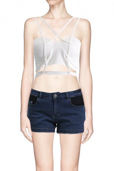 New Style Sexy Strappy Cropped Bandeau for Summer