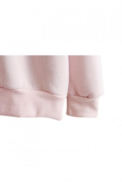 Pattern Sweatshirt Block Color Sleeve Sheep Long qaAaxHEZ