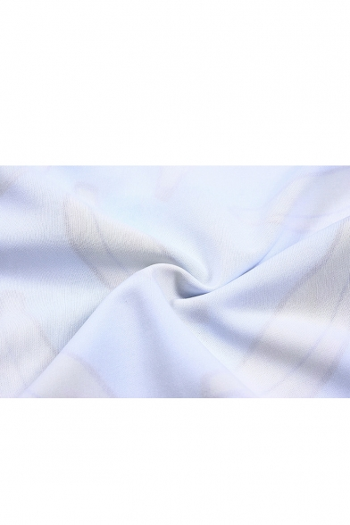 Banana Print Round Neck Long Sleeve Loose Sweatshirt