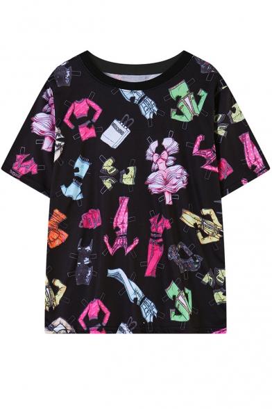 Все Более Модной Одежды Печать С Коротким Рукавом T-Рубашка