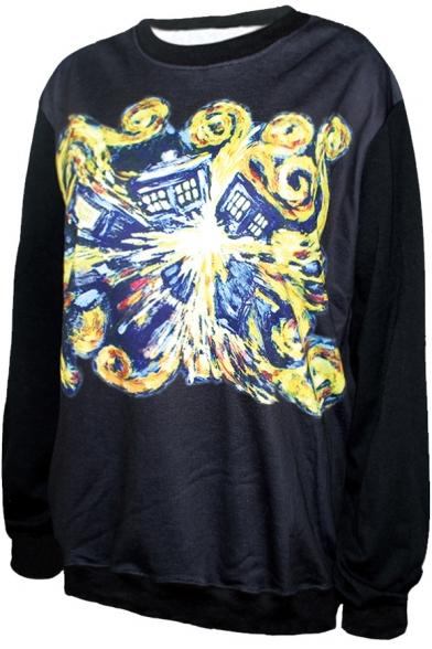 Print Sweatshirt Black Print Explosive Sweatshirt House Black House Sweatshirt Explosive House Black House Explosive Print Explosive 8qw8xFrO
