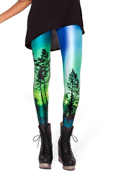 Blue Green Leggings