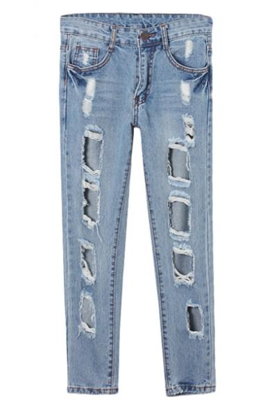 Vintage Light Blue High Waist Loose Harem Jeans