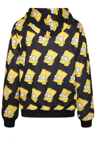 Laid Back Simpson Print Hoodie