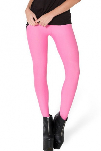 Candy Pink Skinny Leggings