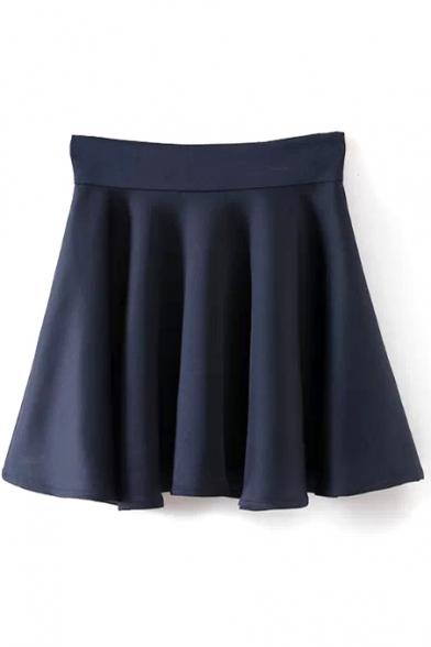 Ruffle Hem Fitted High Waist Skirt
