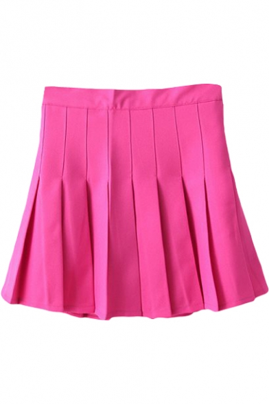 Plum Pleated Tennis Style Skirt