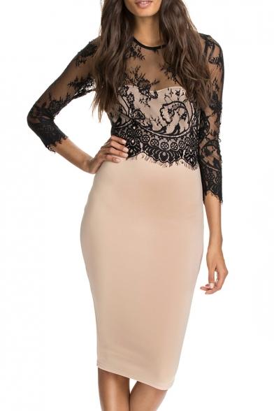 3 colour lace dress insert