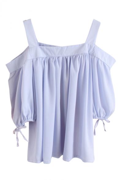 Plain Half Sleeve Off The Shoulder Blouse