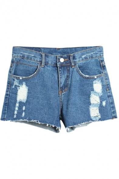 Hot Summer Distressed Low Waist Denim Shorts