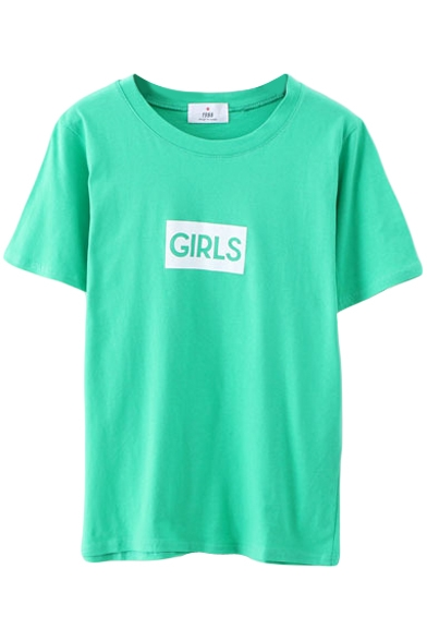 GIRLS Print Short Sleeve Round Neck Tee