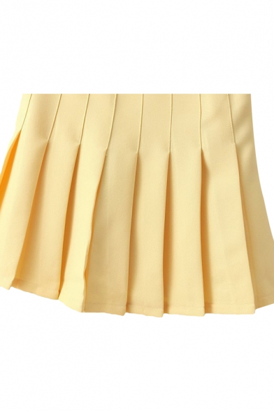 Lilac Pleated Tennis Style Skirt