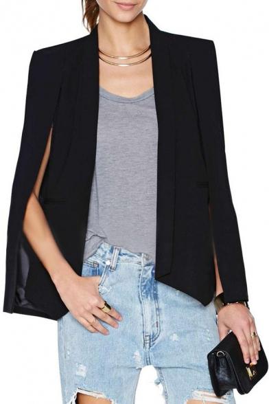 Unique Plain front Sleeve Open Style Blazer Split Lapel qw1Rw8