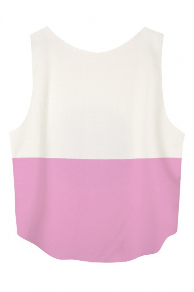 Letter Print Scoop Neck Loose Crop Tank