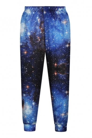 High Waist Galaxy Print Loose Casual Pants