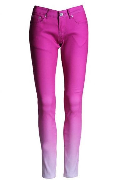 Ombre Style Skinny Jeans