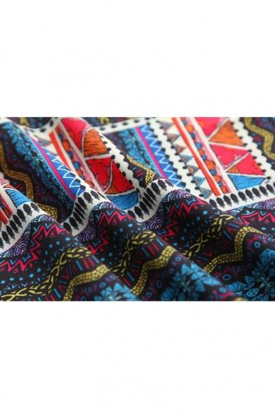 Ethnic Tribal Pattern Slip Mini Casual Dress