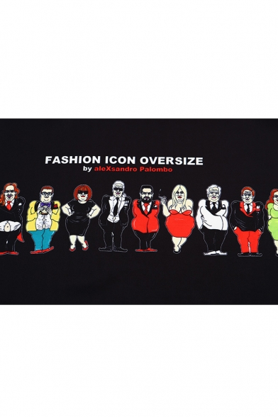 Cartoon Sweatshirt Print Round Character Sleeve Long Neck qnwHg4Sq