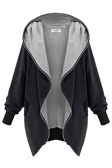 Plain Lapel Long Sleeve Zipper Long Coat