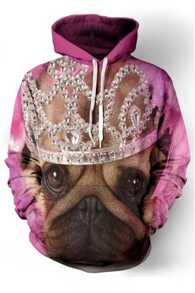 Dog Hoodie Print Pink Long Sleeve Crown Imperial Sx8qwng