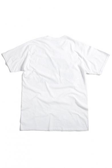 Round Neck Short Sleeve Print Tee