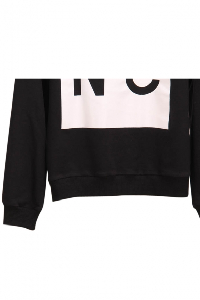 Round Neck Sleeve Sweatshirt Long Letter Print 1qax8