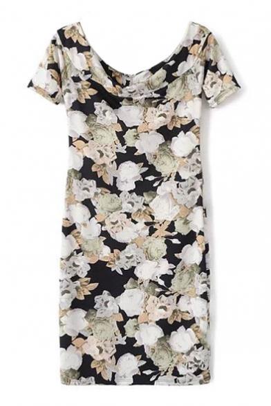 Scoop Neck Color Block High Waist Maxi Dress shipping australia online canada