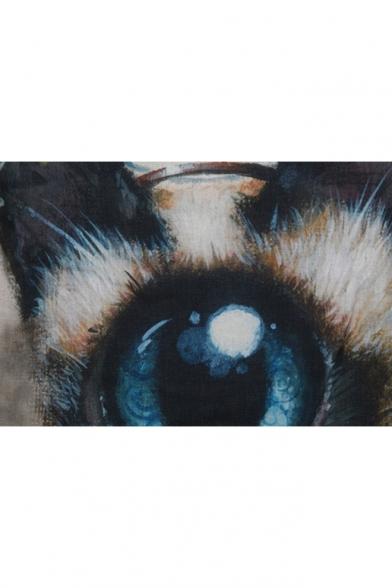 Loose Eye Scoop 3D Animal Sleeveless Print Tank Neck 6wvnS8Uq