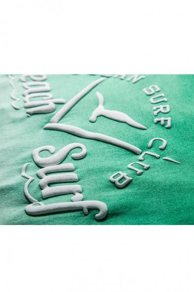 Color Print Pullover Block Letter Tee Loose Ombre U5wx1qzgp4