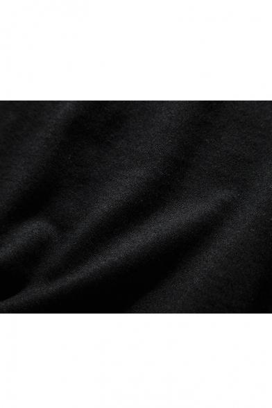 Patchwork Dip Short Polka Sleeve Curved Tee Hem Dot 6FxIqwIZ5