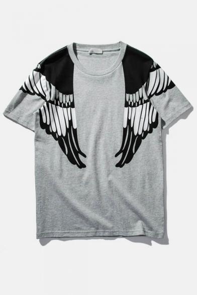 Sleeve Military Eagle Tee Boyfriend Style Print Style Short qz6Y8q