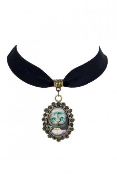 Elegant Alice in Wonderland Metal Women's Necklaces