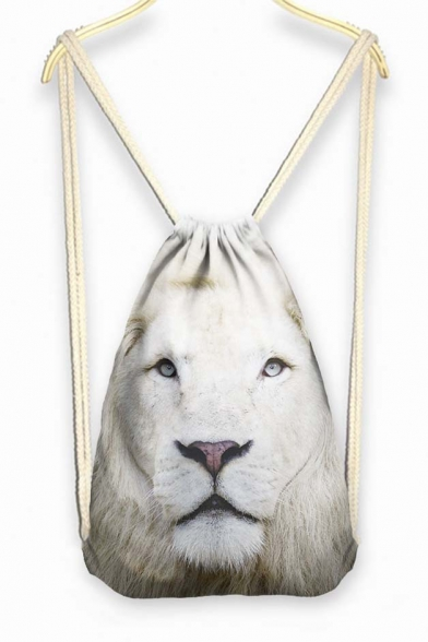 Lion Face Drawstring Backpack