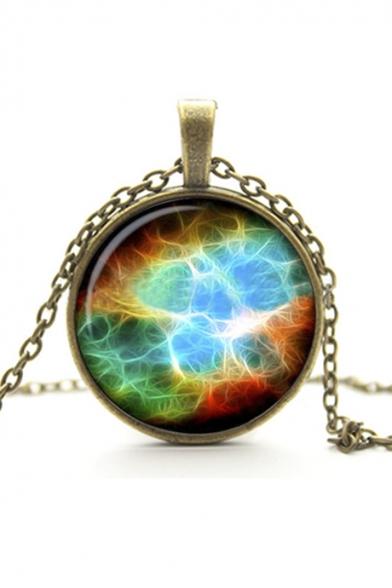 Vintage Metal Gemstone Galaxy Women's Necklaces