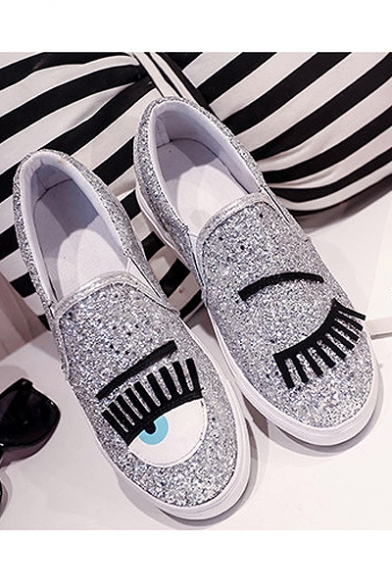 ... Women s Shoes Sneakers Synthetic Flat Heel Comfort Loafers With Bling  Bling Sequins Embellish ... e93fa3f0d