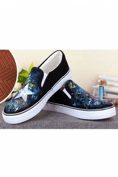 863bf193d83 ... Cool Hand-Painted Galaxy Canvas Platform Sneakers For Women ...