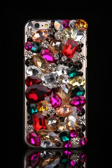 Luxury Colored Rhinestone Crystal Design Soft Case for iPhone