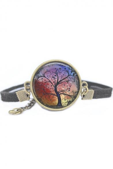 Special Galaxy Tree Metal Gemstone Vintage Bracelets